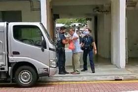 Elderly man arrested after insisting on eating at void deck