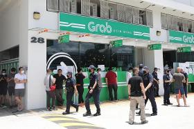 Grab office shuts after getting large turnout of drivers