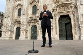 Millions watch Bocelli's Easter concert in empty Duomo cathedral