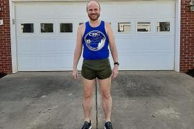 I'm not nuts: US amateur runner after completing marathon at home