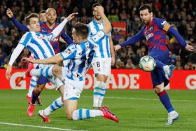 A Lionel Messi-inspired victory over Real Sociedad on March 7 took La Liga leaders Barcelona two points clear of Real Madrid with 11 rounds of matches.