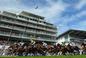 Epsom Downs racecourse, home of the famous Epsom Derby.