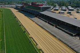 Pimlico Race Course, home of the Preakness Stakes, which is the second leg of the US Triple Crown.