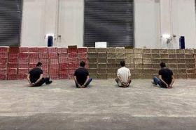 Four men arrested as largest haul of duty-unpaid cigarettes seized