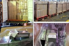 Over $1.1 million worth of counterfeit cigarettes seized, 3 men nabbed