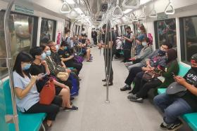 MRT trains and buses more crowded after circuit breaker