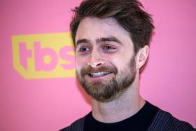 """In this file photo English actor Daniel Radcliffe arrives to attend the screening of TBS' """"Miracle Workers"""" at Buttenwieser Hall in New York on May 14, 2019."""