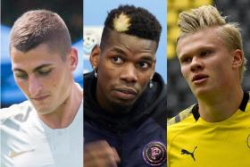 (From left) Marco Verratti, Paul Pogba and Erling Haaland are just some players managed by super agent Mino Raiola.