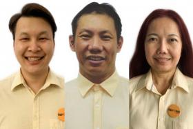Mr Andy Zhu (left). Mr Darren Soh (centre). Madam Noraini Yunus (right).