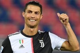 Juventus forward Cristiano Ronaldo scored his 22nd Serie A goal of the season when he converted a first-half penalty against Bologna on Monday.