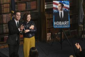 Ben Platt (left) and Zoey Deutch in The Politician 2