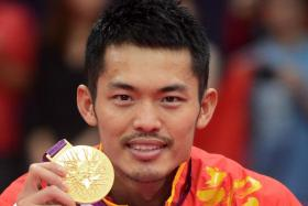 Lin Dan with his second Olympic gold medal, after defeating Malaysia's Lee Chong Wei in the singles final at the 2012 London Games.