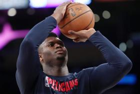 New Orleans Pelicans rookie Zion Williamson (above) said last week he trusts the NBA to keep players safe when play resumes on July 30, but his teammates Brandon Ingram and Lonzo Ball are not convinced.