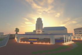 A group of Anglo-Chinese School (Independent) students created a virtual campus in Minecraft as part of the school's open house activities.