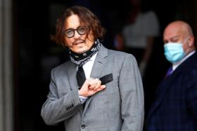 Actor Johnny Depp arrives at the High Court in London, Britain July 13, 2020.