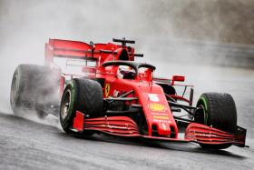 Sebastian Vettel produced an encouraging performance for an under-pressure Ferrari team.