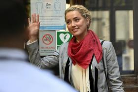 US actress Amber Heard arrives to the Royal Courts of Justice in London, Britain, 21 July 2020. Depp is suing The Sun's newspaper publisher News Group Newspapers (NGN) over claims he abused his ex-wife, US actress Amber Heard, reports state.
