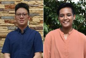 (Left) Mr Tang Yu Alexander. (Above) Ms 'Aqilah Insyirah Abdul Rahim.
