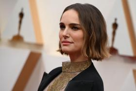 In this file photo taken on February 9, 2020 US-Israeli actress Natalie Portman arrives for the 92nd Oscars at the Dolby Theatre in Hollywood, California.