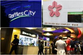 Raffles City Shopping Centre, Golden Mile Complex and the Golden Village cinema in Vivo City are some of the new places visited by Covid-19 patients.