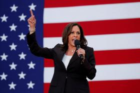 U.S. Senator Kamala Harris holds her first organizing event in Los Angeles as she campaigns in the 2020 Democratic presidential nomination race in Los Angeles, California, U.S., May 19, 2019.