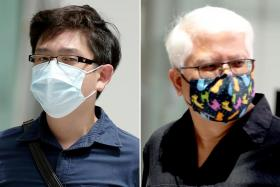 Ryan Xavier Tay (left) and his stepfather Lawrence Lim Peck Beng (right) assaulted Mr Shawn Ignatius Rodriguez, who kept visiting their flat.