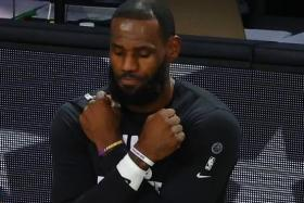 LeBron James also talked about stepping up his leadership both on and off the court in the NBA's pandemic bubble, using his platform to ignite social justice change in communities across the United States.
