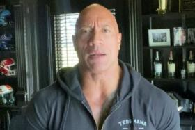 Actor Dwayne Johnson, also known as The Rock, announces that his wife Lauren Hashian, two daughters and himself tested positive for the coronavirus disease (COVID-19) but have recovered, in this still image from video made available on September 2, 2020 via social media.