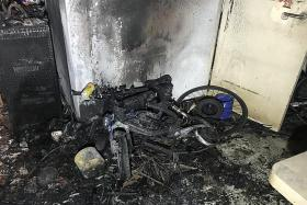 PMD being charged sets off a blaze in Fernvale flat