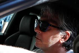 Jorge, Lionel Messi's father, arriving at his lawyers' office on Friday (Sept 4).