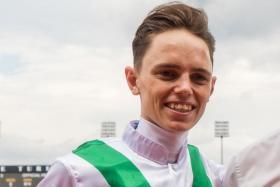 Callan Murray, the jockey of Kokeshi.