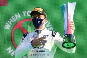 Pierre Gasly wins Italian GP as Lewis Hamilton gets hit by penalty