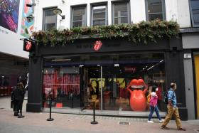 An exterior view of the 'RS No. 9 Carnaby' store in London, Britain, 08 September 2020. 'RS No. 9 Carnaby' is the world's first flagship store selling merchandise relating to 'The Rolling Stones' rock band. The store opens on 09 September in the historic shopping area of Carnaby Street in London.