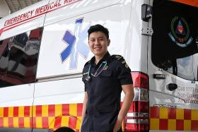 SCDF paramedic's journey of delivering baby to fighting Covid-19