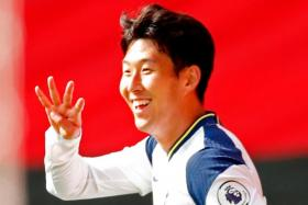 All four goals by Son Heung-min (above) against Southampton were provided by Tottenham Hotspur teammate Harry Kane.