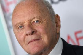 """In this file photo taken on November 18, 2019 Welsh actor Anthony Hopkins attends the AFI FEST gala screening of """"The Two Popes"""" at TCL Chinese Theatre Hollywood."""