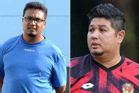 Akbar Nawas (left) led Chennai City to the I-League title last year, while Aidil Sharin (right) coached Kedah to success in the Malaysian FA Cup.