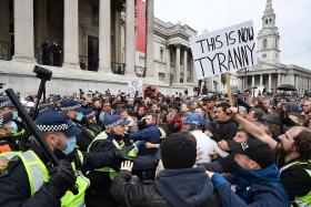 London police break up 10,000-strong anti-lockdown rally