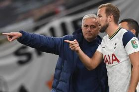 Tottenham Hotspur manager Jose Mourinho (left) wants a backup striker for Harry Kane, who struggled with a hamstring injury last season.