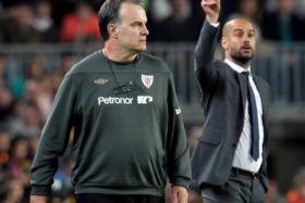 Marcelo Bielsa (left) and Pep Guardiola.