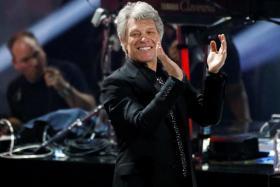Jon Bon Jovi at the 2018 iHeartRadio Music Awards in Los Angeles, California, U.S.