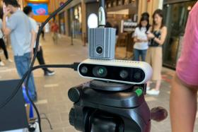 The Spoton smart thermal scanner when it was trialled in Downtown East in March this year.