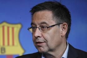 La Liga head Tebas criticises Barcelona's outgoing chief Bartomeu
