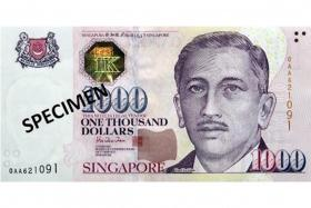 From now till the end of next month, MAS will also limit the quantity of $1,000 notes issued.