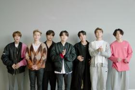 BTS accept the win for Best Group at the MTV EMA's 2020, in Los Angeles, California, U.S. in this screengrab image released on November 8, 2020.