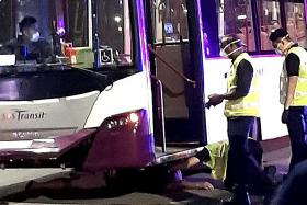 52-year-old man trapped under bus for 15 minutes after collision