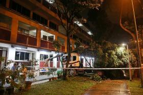 Close shave for residents as lorry rams into their Jurong block