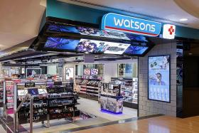 Watsons to charge 10 cents for plastic bags on Tuesdays