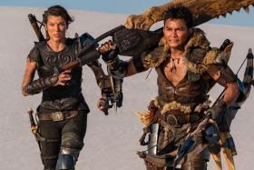 Milla Jovovich (left) and Tony Jaa in Monster Hunter