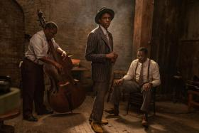 Chadwick Boseman (centre) in Ma Rainey's Black Bottom